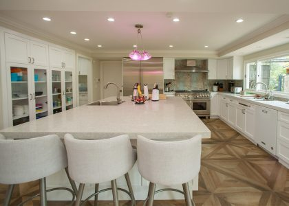 Large custom kitchen island